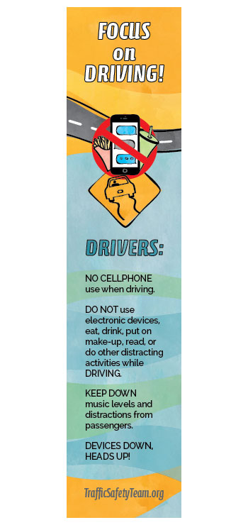 Bookmarks - Distracted Driving Safety Message