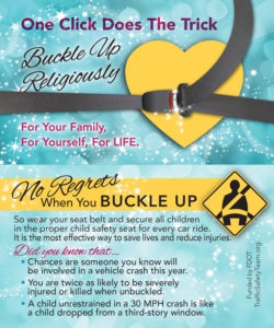 Buckle Up Religiously Traffic Safety Tip Card