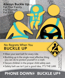 Buckle UP Family Traffic Safety Tip Card