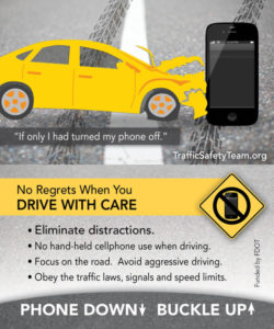 Distracted Driving tip card
