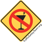 no drinking traffic safety sign