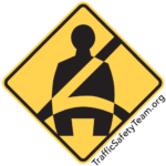 buckle up traffic safety sign