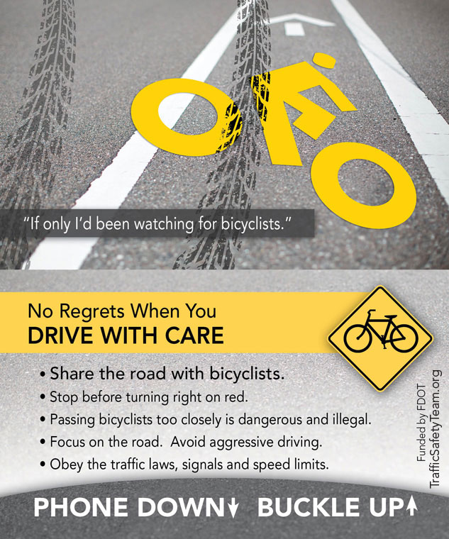 FDOT D2 CTST FL Traffic Safety Bicycle Tip Card