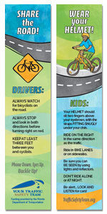 Safety Bookmark - Bicycle Safety Message