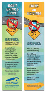 Safety Bookmark - Distracted Driving Safety Message