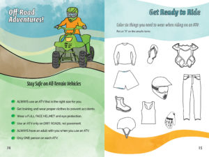 Activity Book - Elementary Pages - ATV Safety Message