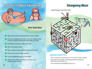 Activity Book - Elementary Pages - Water Safety Message