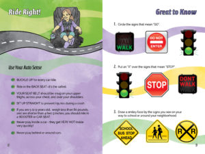 Activity Book - Elementary Pages - Occupant Protection Safety Message