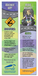 Safety Bookmark - Occupant Protection Safety Message