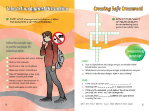 Activity Book - Pre Teens Pages - Crossing Safety Message