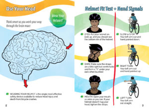 Activity Book - Pre Teens Pages - Bike Helmet Safety Message