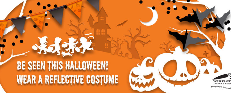 Web Banner with Halloween Safety Message