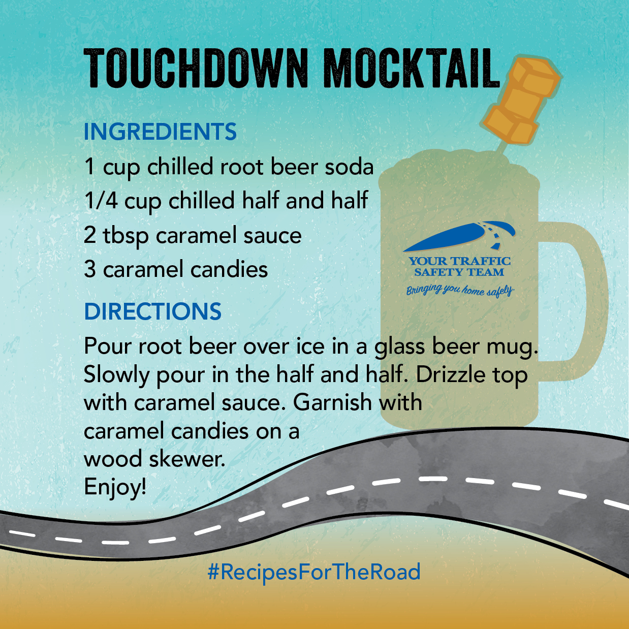 Traffic Safety Jaguar Football Mocktail Drink Recipe