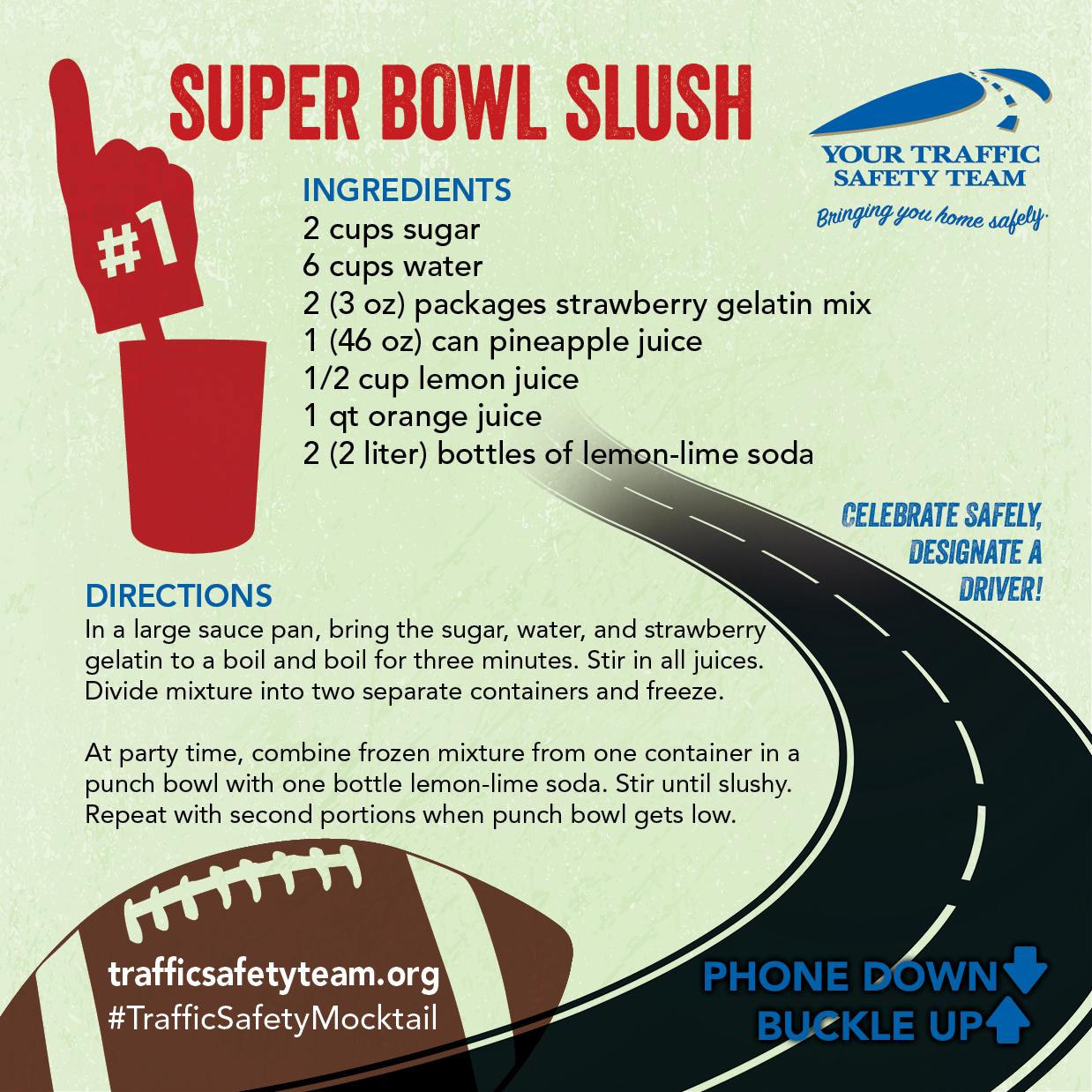 Super Bowl Mocktail Drink Recipe