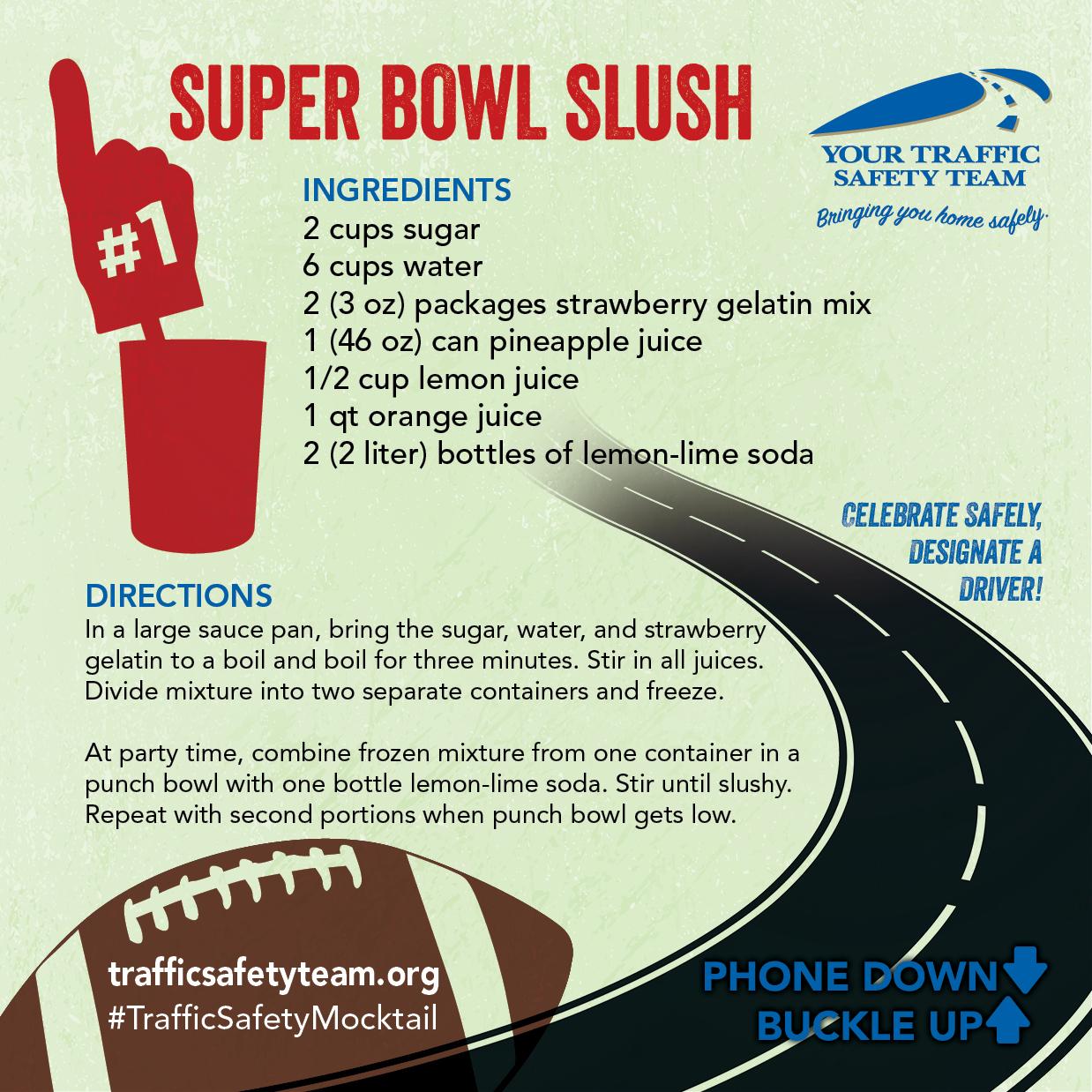 Super Bowl Mocktail Drink Recipe