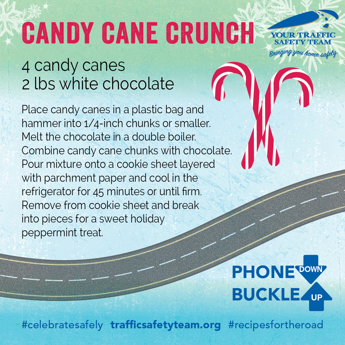 Traffic Safety Candy Cane Desert Recipe