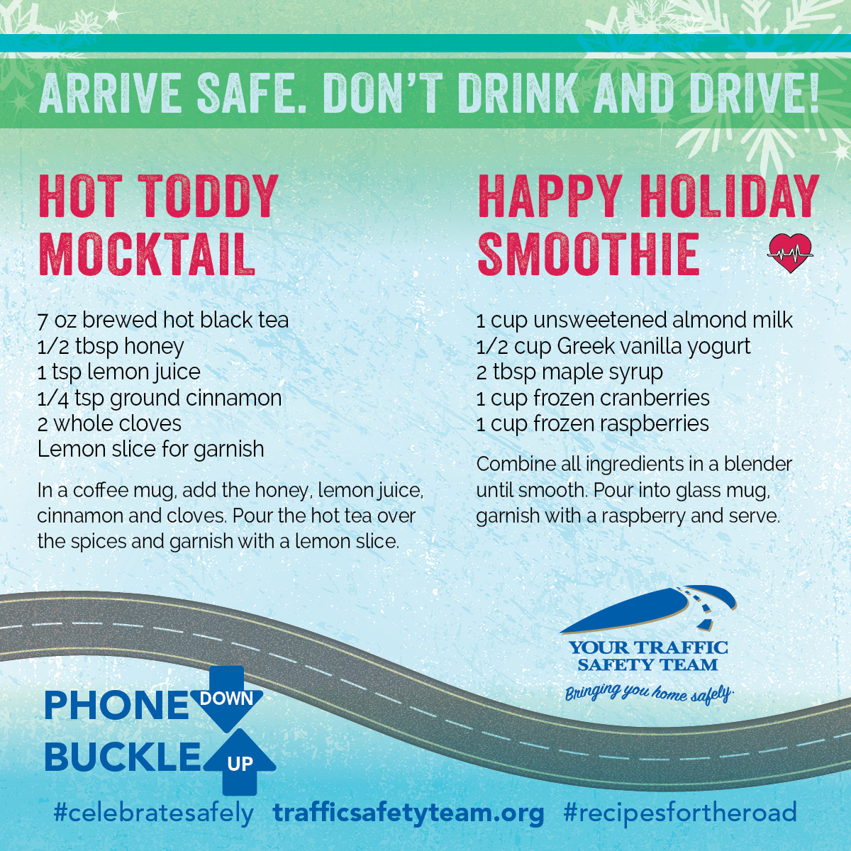 Holiday Mocktail Recipes Celebrate Safely
