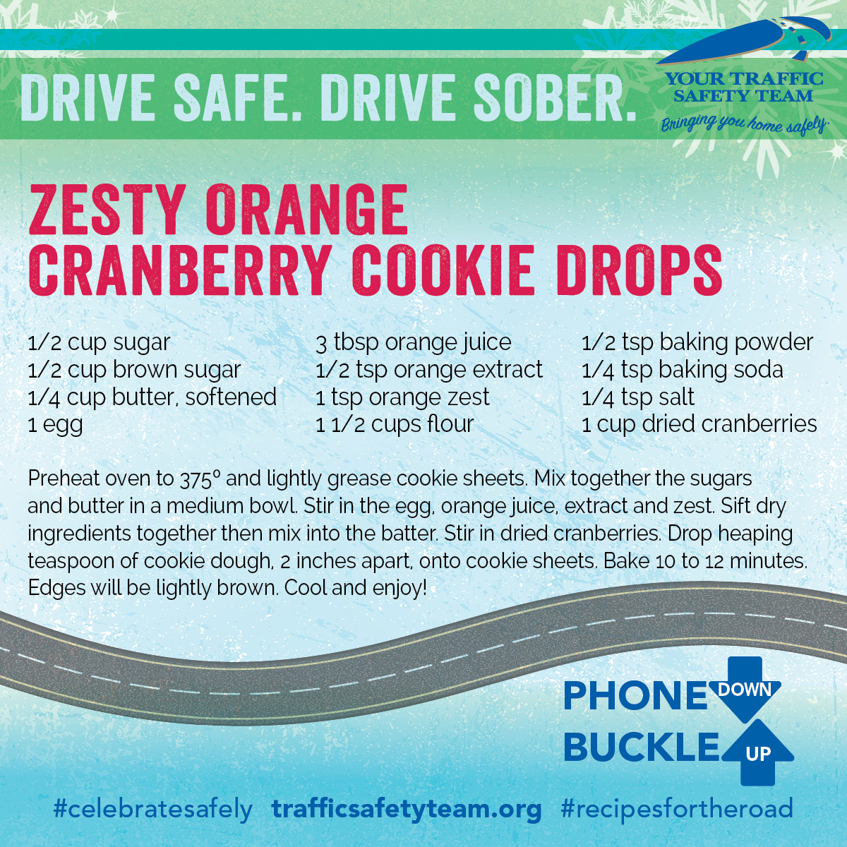Traffic Safety Holiday Cookie Recipe