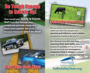 Rural Seat Belt Safety Tip Card