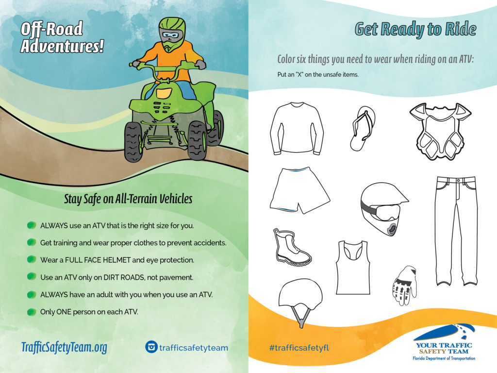 Youth activity page related to ATV safety