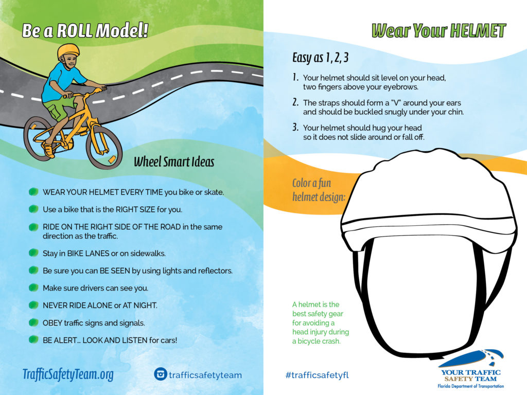Youth activity page related to bicycle safety