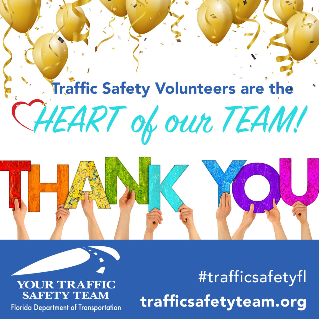 traffic safety virtual volunteer thank you