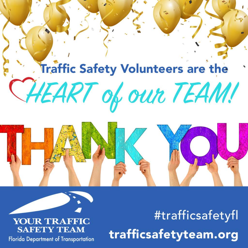traffic safety virtual volunteer thank you